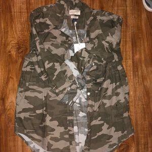 NWT Camo Button Up Shirt